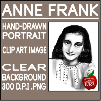 ANNE FRANK CLIP ART {ANNE FRANK PORTRAIT}