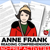 ANNE FRANK COMPREHENSION WITH QUESTIONS {ANNE FRANK WORKSHEETS}