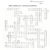 ANNE FRANK PLAY REVIEW CROSSWORD