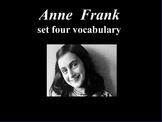 ANNE FRANK PLAY SET FOUR VOCABULARY