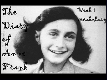 ANNE FRANK PLAY SET ONE VOCABULARY