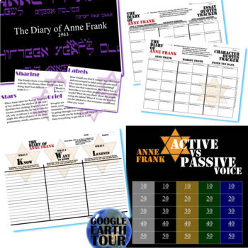 THE DIARY OF ANNE FRANK Unit - Memoir Study Bundle - Literature Guide