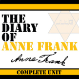THE DIARY OF ANNE FRANK Unit Plan - Memoir Study Bundle -