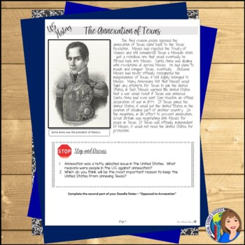 ANNEXATION OF TEXAS Readings and Cartoon Notes
