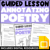 ANNOTATING POETRY Close Reading Lesson and Annotation Anchor Chart Bookmark