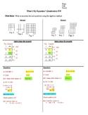 ANS What's My Equation? (Quadratics) HW