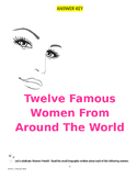ANSWER KEY to 12 Famous Women from Around the World