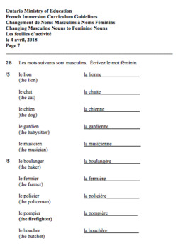 ANSWERS - PDF - GR. 2 F.I. - ONT. MIN. OF ED. - AUGUST 1, 2018