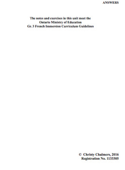 ANSWERS - PDF - GR. 3 F.I. - ONT. MIN. OF ED. - AUGUST 2, 2018