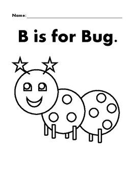 BUG Basic Shapes Coloring Page