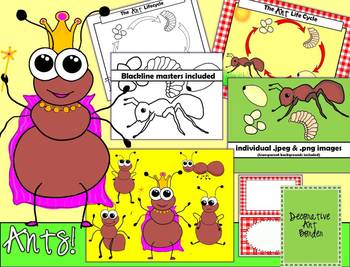 ANT CLIPART - Lifecycle and Adorable Ants!