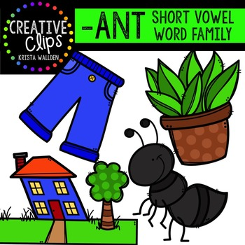 ANT Short A Word Family {Creative Clips Digital Clipart}