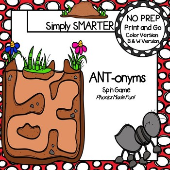 ANT-onyms:  NO PREP Ants Themed Antonyms Spin Game