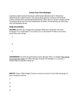 ANTHEM by Ayn Rand - COMPLETE UNIT HANDOUTS / ACTIVITIES (44 PAGES)