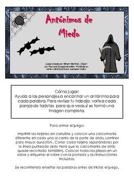ANTONIMOS DE MIEDO