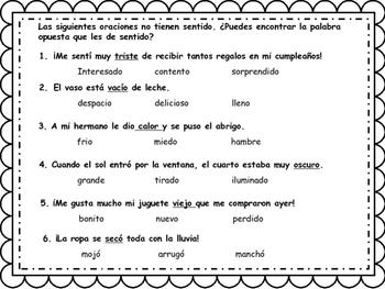 ANTONIMOS/ANTONYMS BILINGUAL