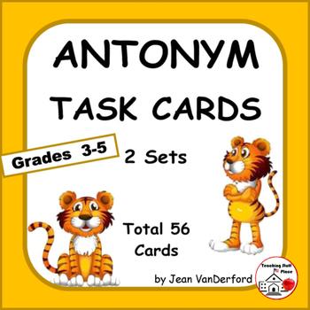 ANTONYMS   PRACTICE   TASK CARD  Game   Antonym Lists   Vo