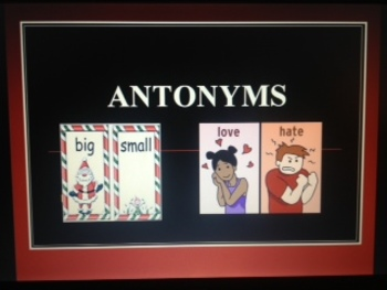 Word Study and Vocabulary - Antonyms Opposites PowerPoint grades K-4