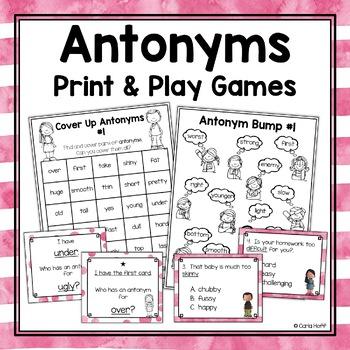 ANTONYMS  Task Cards & Games