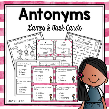 ANTONYMS - Games and Task Cards