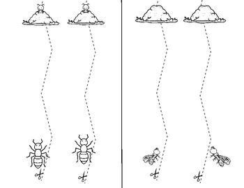 ANTS Go Walking Cutting Lines Fine Motor Skills FREE