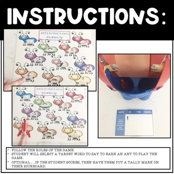 ANTS IN THE PANTS, BUNDLE, ARTICULATION & LANGUAGE (SPEECH & LANGUAGE THERAPY)