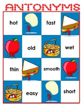 ANTonymns File Folder Reading Game Antonyms