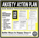 ANXIETY ACTION PLAN - FREE - Prevention Strategies