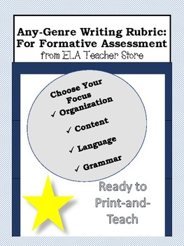 ANY-GENRE Writing Rubric: Formative Assessment Tool