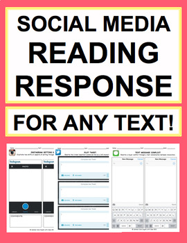 Literature Activities: NO PREP reading response handouts for ANY novel