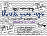 ANY OCCASION Thank You Tags