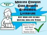 ANY TEXT RL.2 Literature Reading Standards: Central Idea a
