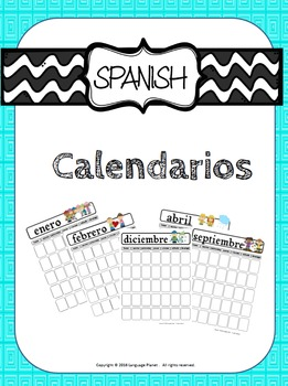 ANY YEAR Spanish Monthly Calendars (includes 24 templates!)