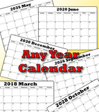 Make ANY Year Calendar (Editable in Excel)
