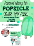 ANYTHING is POPSICLE editable FREEBIE Newsletter