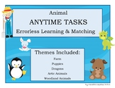 ANYTIME TASKS Animals Set Errorless Learning Matching Boards Classroom Activity