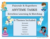 ANYTIME TASKS Fairytale & Superhero Set Errorless Learning Matching Boards