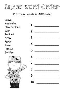 ANZAC ABC Order