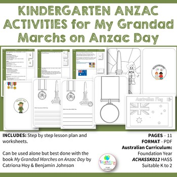 ANZAC ACTIVITIES for My Grandad Marches on Anzac Day