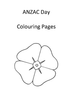 ANZAC Colouring Pages