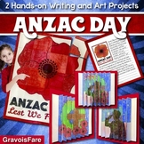 ANZAC DAY Activities Bundle! TWO Hands-on Writing and Art Projects