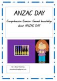 ANZAC DAY Comprehension exercise