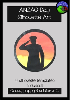 ANZAC DAY silhouette art template