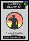 ANZAC DAY silhouette art template