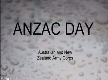 ANZAC Day PowerPoint