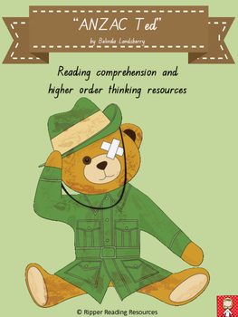 ANZAC Ted bundle - HOT reading activities - 70 pages!