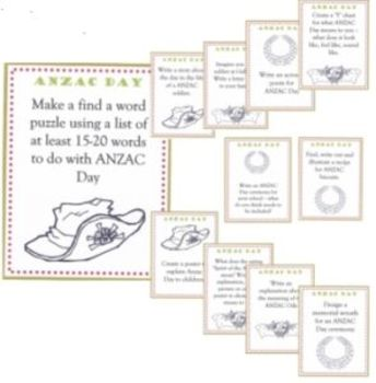 ANZAC Day Activity Cards