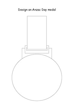ANZAC Day Activity - Design your own ANZAC Day Medal