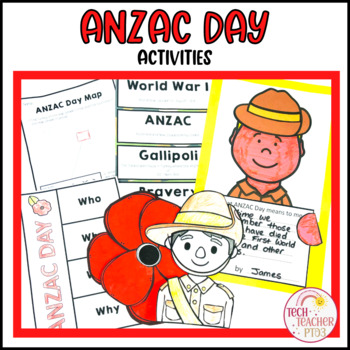 ANZAC Day Activity Pack Craft, Literacy Activities, Posters and Vocabulary
