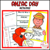 ANZAC Day Activity Pack Craft Literacy Activities Posters and Vocabulary Cards